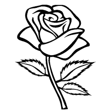 Awesome Rose Coloring Page 47 In Free Colouring Pages With