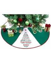 Seasons Greetings Green Polyester 36 Inch Christmas Tree Skirt Text