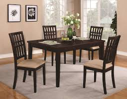 100 Cherry Table And 4 Chairs Brandt Dark Wood Dining StealASofa Furniture Outlet