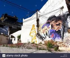 Famous Spanish Mural Artists by Street Art In Sacromonte Granada Spain Famous For Its Cave