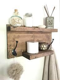 Diy Wood Towel Rack And Organizer Rustic Oil Rubbed Bronze Bar