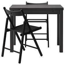 terje bjursta table and 2 chairs brown black black 50 cm ikea