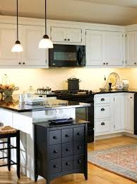Kitchen Black Cabinets Farmhouse Idea In With White Appliances And Beaded Inset