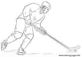 Hockey Player Nhl Sport Coloring Pages Printable