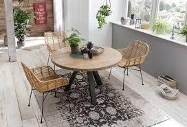 sit esstisch tops tables mit massivholzplatte aus mangoholz runder tisch kaufen otto