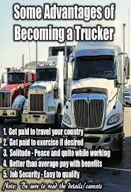 Advantages Of Becoming A Truck Driver