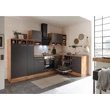 respekta winkelküche bekbl310egc 310 x 172 cm grau wildeiche nachbildung