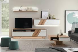 decker wohnwand ramos v15470 asteiche farbglas weiß möbel