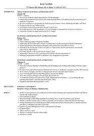 Download Business Administration Resume Sample As Image File
