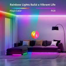 lepro 20m musik led 2x10m magiccolor led streifen band 5050 smd led stripes 12v selbstklebend lichtband mit fernbedienung flexibel led