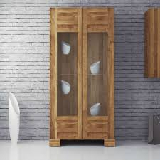 esszimmer vitrine aus wildeiche massivholz 90 cm