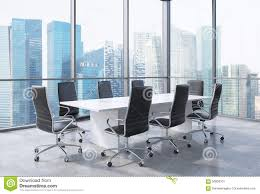 Panoramic Conference Room In Modern Office In Singapore. Black ... Meeting Fniture Boardroom Tables Office Conference Room Chairs Beautiful Contemporary Meeting Room Fniture Factory Direct Sale Modern Table With Colored Interior Design 3d Side View New Wooden In Of Business Center Board Large And Red Executive Richfielduniversityus Western Workplaces That Spark Innovation Affordable Minimalist Desk Chair Shop