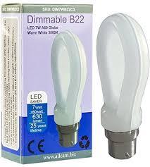 allcam dimmable 7w bayonet b22 warm white led bulb 630lm 60w incandes