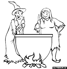 Witches Brew Cauldron Online Coloring Page