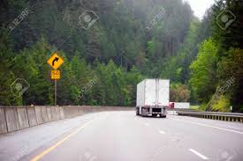 100 Directions For Trucks Big Rigs Semi With Semi Trailers Moving In Both