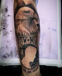 POW MIA Patriotic Eagle Sleeve Tattoo