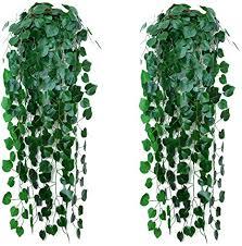 wenxiaw hängepflanze kunstpflanze plastikpflanzen hängepflanze kunstblumen im topf hängend efeu künstlich hängend künstliche hängende pflanzen für