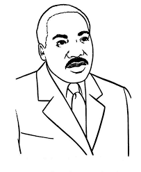 American Humanitarian Activist Martin Luther King Jr Coloring Page