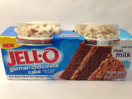 Review JELL O Mix Ins German Chocolate Cake Pudding