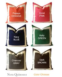 Decorative Lumbar Throw Pillows by Decorative Lumbar Pillow Cover Navy Bluecotton Canvas Lumbar