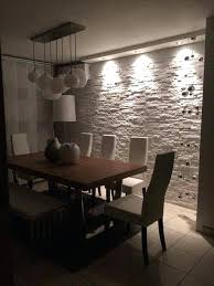Stone Wall Dining Room Want This White Accent In The Dinning Area To Match