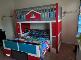 Kids Truck Beds Firetruck Toddler Fire Bunk Bus For Sale Firehouse ...