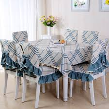 Pastoral Plaid Tablecloth Table Cloth Chair Cover Coffee Dining Cushion Cotton