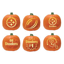 Steelers Pumpkin Carving Patterns Free by Nfl Pittsburgh Steelers Pumpkin Carving Kit Amazon Ca Sports