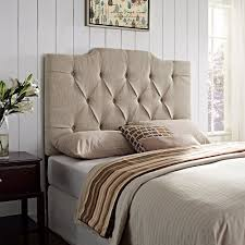 King Size Tufted Upholstered Headboard 38 Cool Ideas For Wingback by Amazon Com Pulaski Everly Panel Tufted Linen Headboard Kitchen