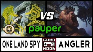 Mtg Deathtouch Ping Deck by Pauper One Land Spy Vs Ub Angler Youtube