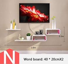 shelf tv schrank set top box gestell wand boxen wohnzimmer