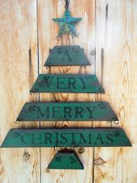 Rustic Christmas Tree Decoration Holiday Decor Wall Hanging Sign