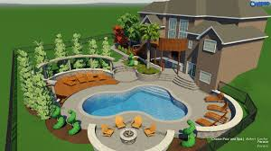 100 Backyard By Design Raleigh Landscape 3D Pool Spa Services Choice PS