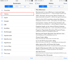 How to delete specific pages from Safari history