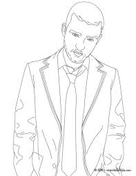 JUSTIN TIMBERLAKE Coloring Page Color Online Print