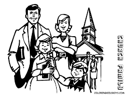 Bible Family Coloring Pages Printable