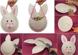 Bring Yourself Two Paper Plates As One To Make Bunny Face And Other Craft His Naughty Ears Use The Pink Color Look Realistic