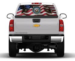 Navy American Flag Eagle Rear Truck Window Graphic - Nostalgia Decals Metal Mulisha Skull Circle Window X22 Graphic Decal Monster Truck Wall Decals Mural Wallums Texans Truck Has Possibly The Most Racist Decal Ever San Antonio Rocker Flame Side Graphics Ford F150 Bed Stripes Torn Mudslinger Side 4x4 Rally Vinyl Turkey Tailgate Realtree Xtra Camo Camouflage Ripped Style Custom Truckcarauto Decals And If You Think My Is Smokin Should See Wife Sticker Great Deals On Silly Boys Trucks Are For Girls Car Intertional Harvester Official Ih Gear Wraps Houston Vehicle 3m Wrap
