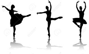 ballet dancers silhouette vector royalty free cliparts vectors
