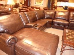 furniture cool brown leather sectional sofa by havertys sofa for