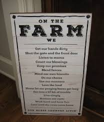 BiG FARM Rules Wood Wall SIGNPrimitive French Country Farmhouse Kitchen Decor