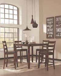 Dining Room Contemporary Table In Brown Finish A With Light Walls And Black Accents