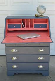Ethan Allen Secretary Desk With Hutch by I Found This Great Serpentine Secretary Desk That Needed Some Tlc