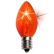 c7 light bulb c7 twinkle orange