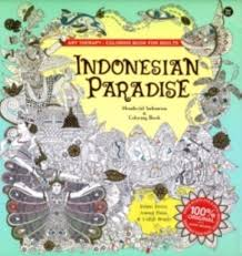 Gramedia Indonesian Paradise Art TherapyColoring Book For Adults