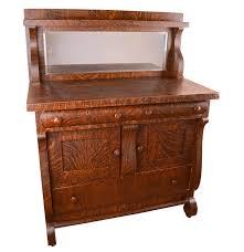 Tiger Oak Dresser Beveled Mirror by Antique Oak Server By Globe Bosse World Furniture Ebth