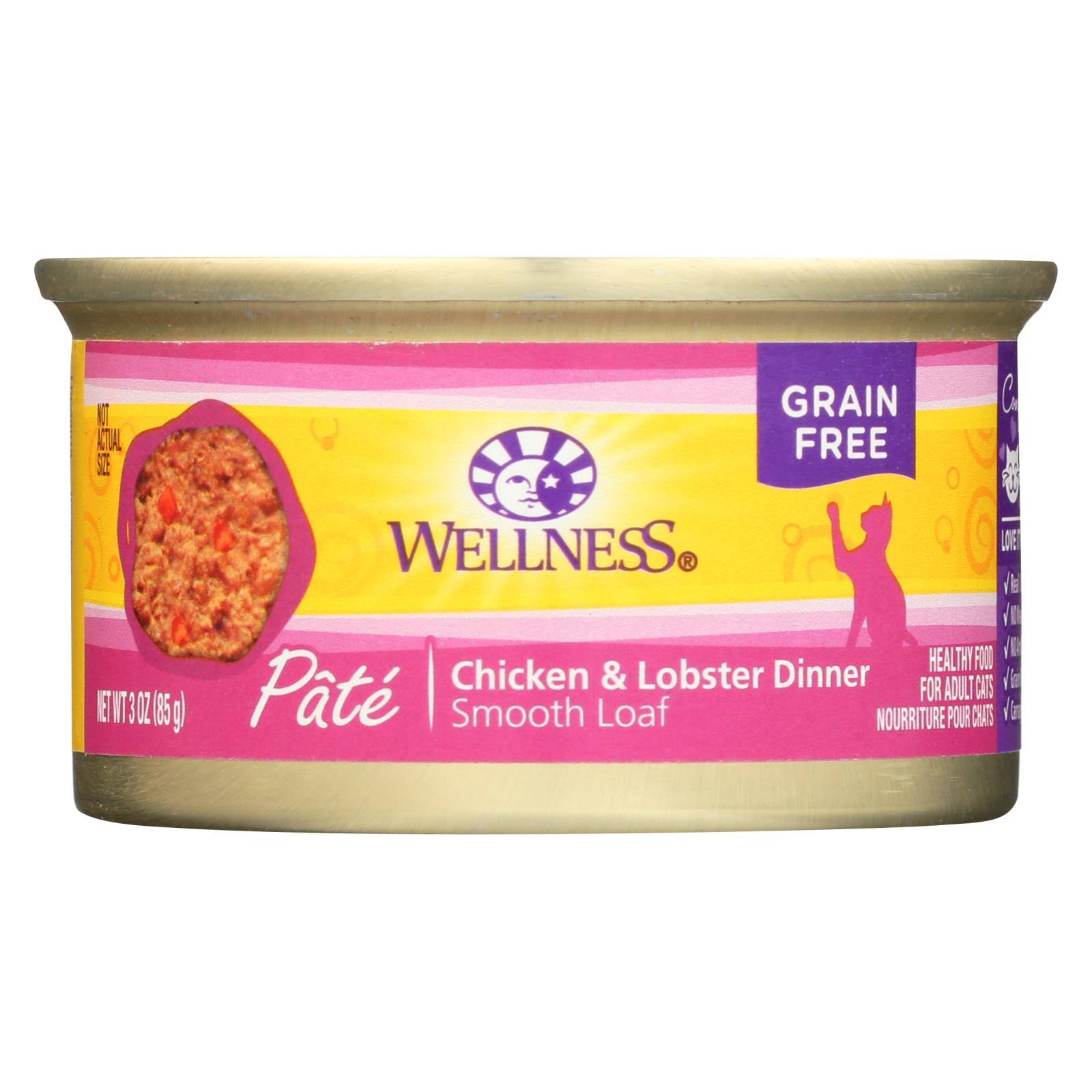 Wellness Canned Cat Food - Chicken and Lobster, 3oz