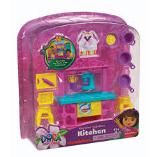 price dora playtime doll house kitchen island damage pkg