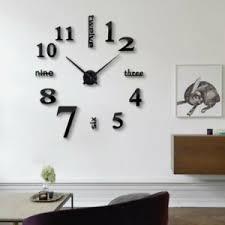 wanduhr wohnzimmer dekor wandtattoo 3d effekt diy design