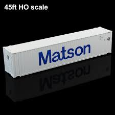 100 Shipping Container Model US 1499 187 HO Scale Matson 45ft S Freight Car Trains Lot C8745 Railway Ingin Building Kits From